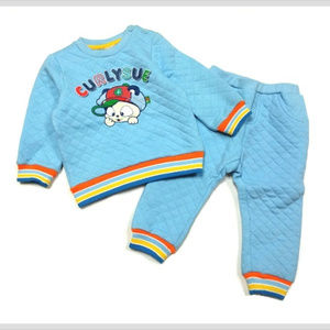 Cute 2-piece playwear for toddlers, quilted cotton